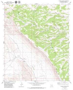 Algerita Canyon topo map