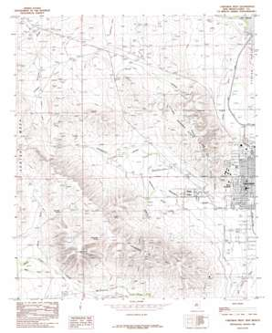 Carlsbad West topo map