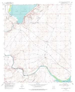 Lake Mcmillan South topo map