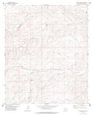 Encino Draw topo map
