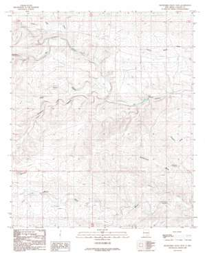 Sixteenmile Draw West topo map
