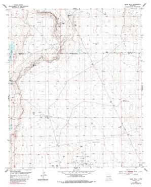 Basin Well topo map