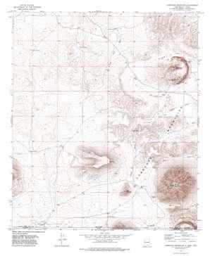 Cornudas Mountain topo map