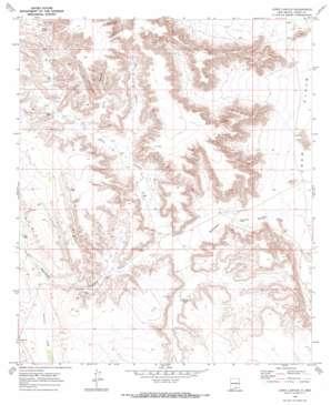 Lewis Canyon topo map
