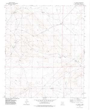 B T Ranch topo map