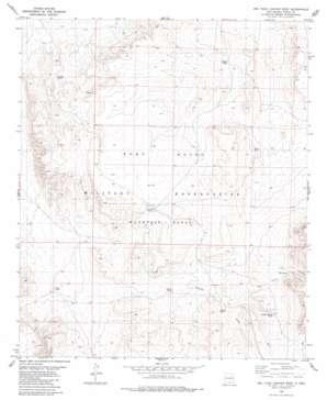 Owl Tank Canyon West topo map