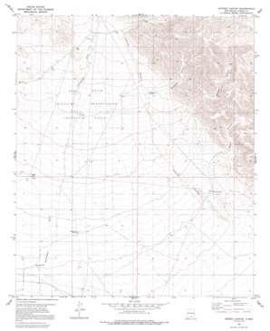 Sixteen Canyon topo map