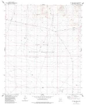 El Paso Draw topo map