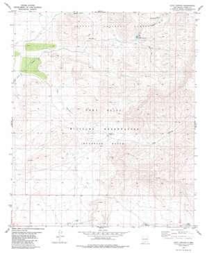 Culp Canyon topo map