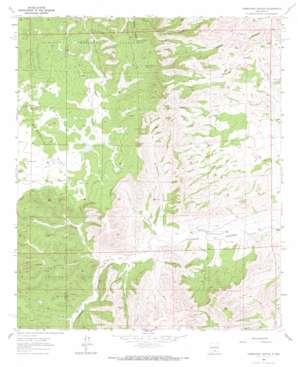 Robertson Canyon topo map