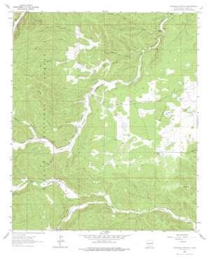 Woodson Canyon topo map