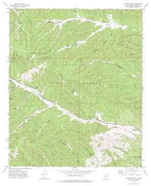 Harvey Ranch topo map