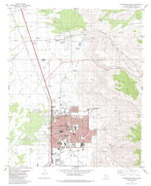Alamogordo North topo map