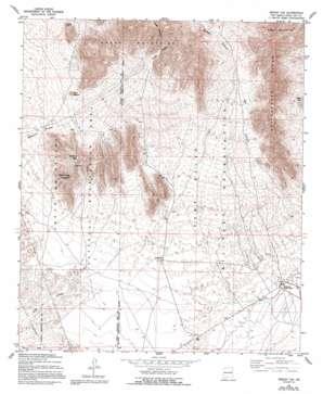 Bishop Cap topo map