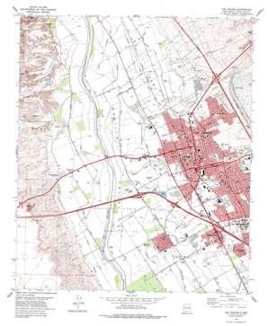 Las Cruces topo map