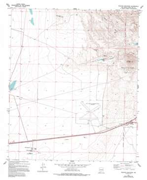 Picacho Mountain topo map