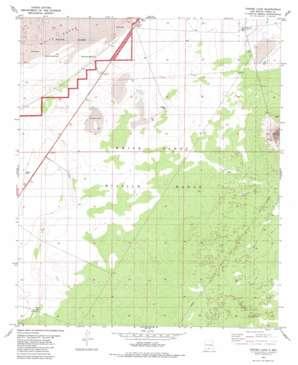 Foster Lake topo map