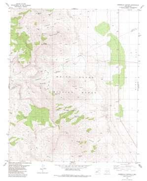 Hembrillo Canyon topo map