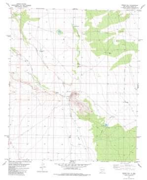 Prisor Hill topo map