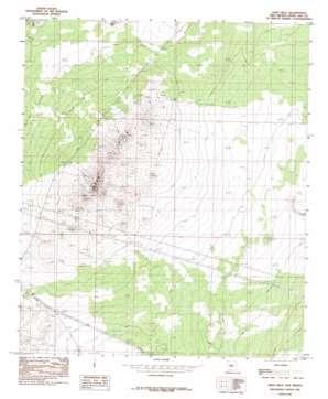Aden Hills topo map