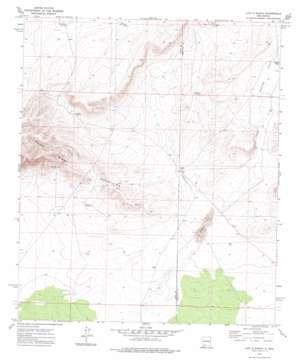 Lazy E Ranch topo map