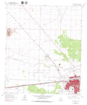 Deming West topo map