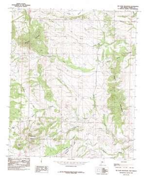 Mcclede Mountain topo map