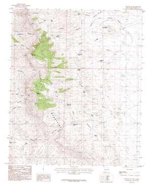 Apache Gap topo map