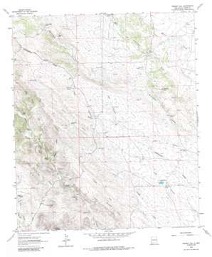 Werney Hill topo map