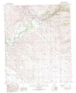 Redrock topo map