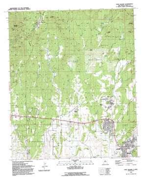 Fort Bayard topo map