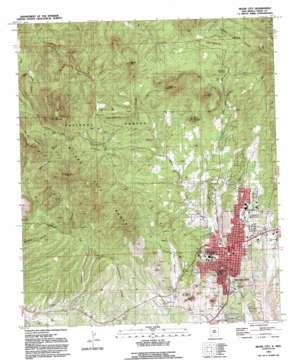 Silver City topo map