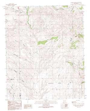 Walker Canyon topo map