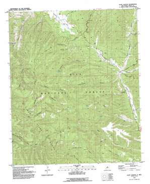 Allie Canyon topo map
