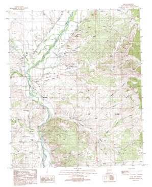 Cliff topo map