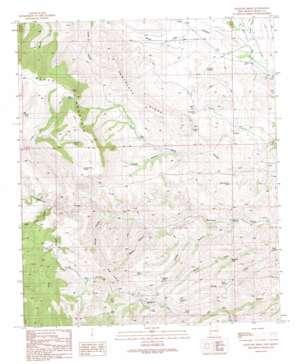 Antelope Ridge topo map