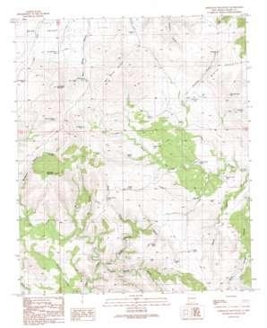 Applegate Mountain topo map