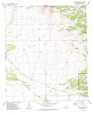 Bowie Mountain South topo map