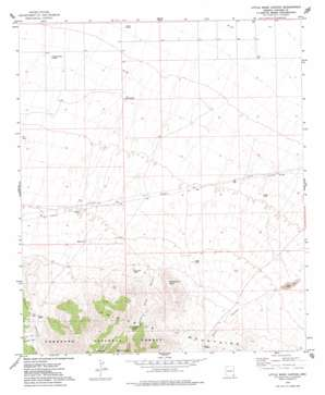 Little Wood Canyon topo map