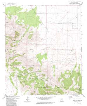 Bowie Mountain North topo map