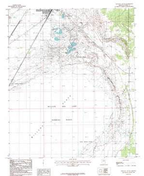 Willcox South topo map