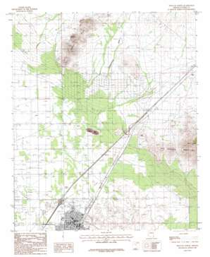 Willcox North USGS topographic map 32109c7