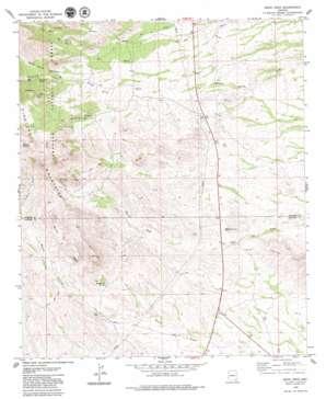 Monk Draw topo map