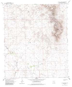 Javelina Peak topo map