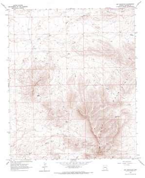 Dry Mountain topo map
