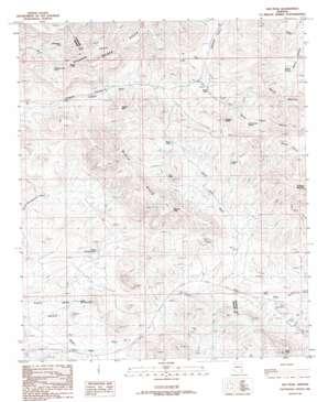 Ash Peak topo map