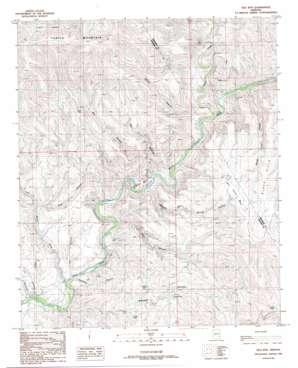 Gila Box topo map