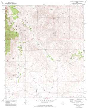 Galleta Flat West topo map