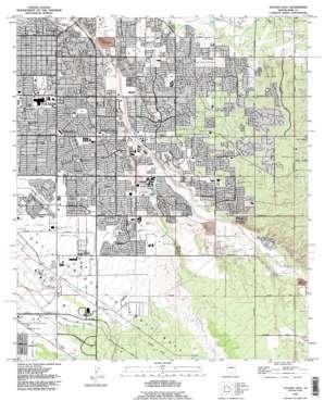 Tucson East topo map