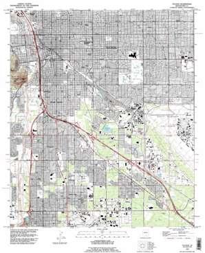 Tucson topo map